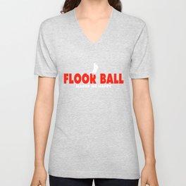 Floor Ball Tee Shirt Unisex V-Neck