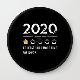 KPop Music 2020 Saying Wall Clock