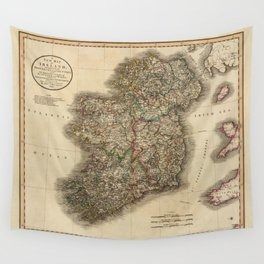 Map of Ireland 1799 Wall Tapestry