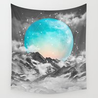 mountains Wall Tapestries featuring It Seemed To Chase the Darkness Away by soaring anchor designs