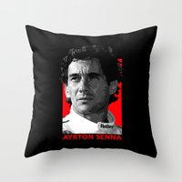 senna Throw Pillows featuring Formula One - Ayrton Senna by Vehicle