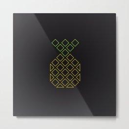 Geometric pineapple Metal Print