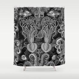 The Kraken (Black & White - NoText, Alt.) Shower Curtain