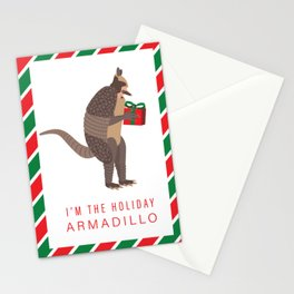I'm the Holiday Armadillo - Ross Friends TV Seri Stationery Cards