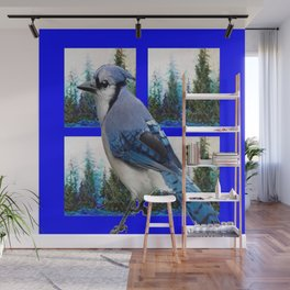 MOUNTAIN BLUE JAY SCENIC ART Wall Mural