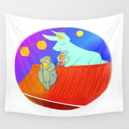 Lunar New Year in February Wall Tapestry