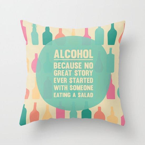 Bottle V.1 Throw Pillow