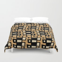 Mid Century Modern Abstract 212 Beige Duvet Cover