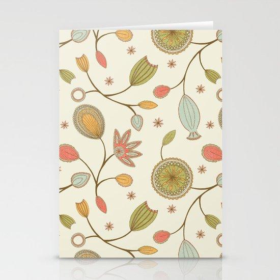 Mehndi Flower Stationery Cards