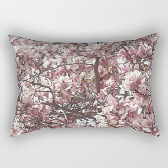 Magnolia Blossoms Rectangular Pillow