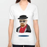 heisenberg V-neck T-shirts featuring Heisenberg by Kody Christian
