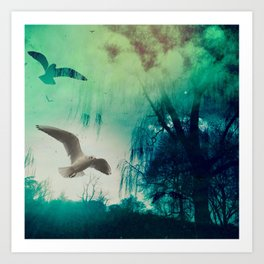 Green Dreams Art Print