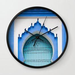 Doors - Chefchaouen, Morocco Wall Clock