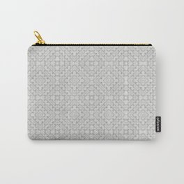 GRAYVILLE - light grey all-over subtle pattern Carry-All Pouch