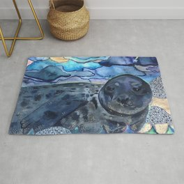 Cliffnote the Baby Harbor Seal Rug