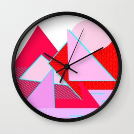 Hello Mountains - Flowering Slopes Wall Clock