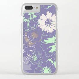 Late Summer Lavender Clear iPhone Case