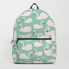 Duck Egg Blue Swans Backpack