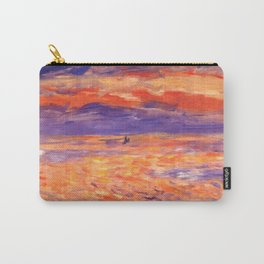 """Auguste Renoir """"Sunset at sea"""" Carry-All Pouch"""