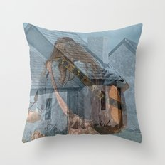 Peace and Love in the fishermans village Throw Pillow