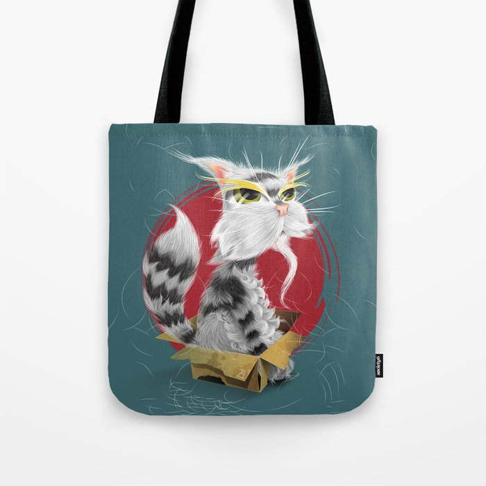 Paw Mei The Wise Cat Tote Bag