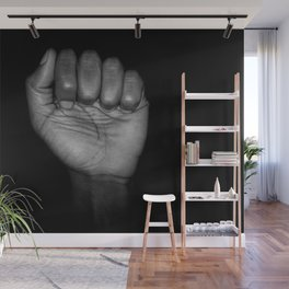 Fists of Rebellion Black and White Art Photographic Print Wall Mural