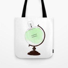 Green Perfume Globus Tote Bag