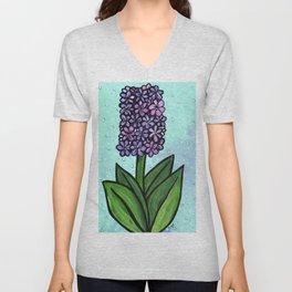 Hyacinth in Spring Unisex V-Neck