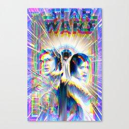 Comic Book Cover Star Glitch Wars  Canvas Print