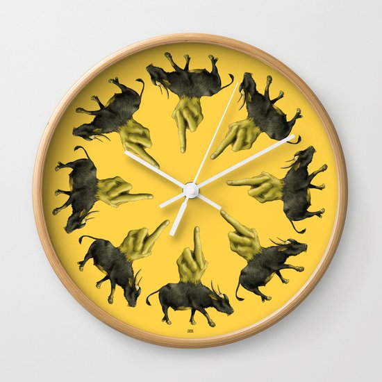 Divine Fuck You Wall Clock