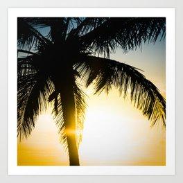 Palm Beach Gold Art Print