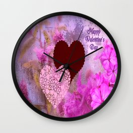 Happy Valentine`s Day Wall Clock