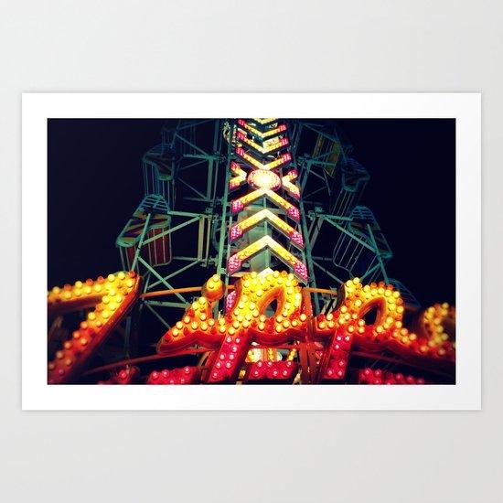 Carnival Lights, The Zipper Art Print