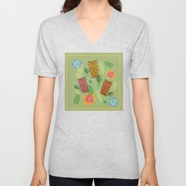 Bamboo Tiki Room Pattern Unisex V-Neck