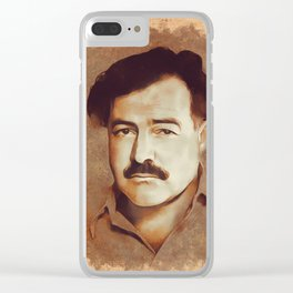 Ernest Hemingway, Author Clear iPhone Case