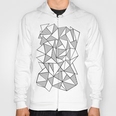 Abstraction Lines Black on White Hoody