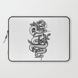 Snake and Rose Laptop Sleeve