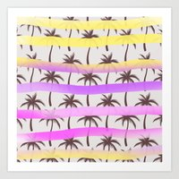 palm trees Art Prints featuring Palm Trees by Ornaart
