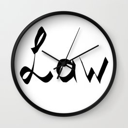 Law Wall Clock