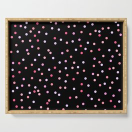 Polka Dot Rose Pink Pattern | For Her | Christmas | Fun Bedroom Decor Serving Tray