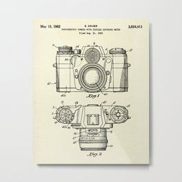 Photographic Camera with coupled exposure meter-1962 Metal Print
