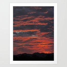 Rippled Sunset Art Print
