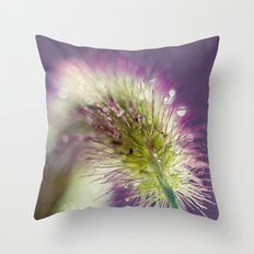 purple with bokeh Throw Pillow