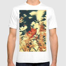 Cosmos in Abstract MEDIUM Mens Fitted Tee White