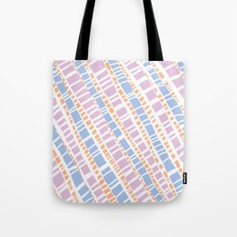 Delicate Pastel Lines Pattern Tote Bag