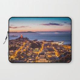 Coit Tower Alcatraz Laptop Sleeve