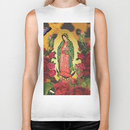Virgen de Guadalupe Biker Tank