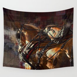 Work Horses Wall Tapestry