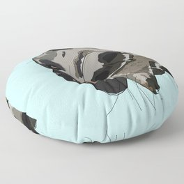 Great Dane in your face (teal) Floor Pillow