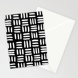 Black Mudcloth Pattern Stationery Cards